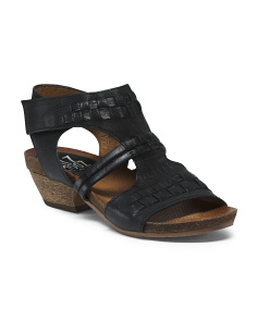 T Strap Leather Sandals