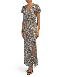 Juniors Leopard Print Maxi Dress