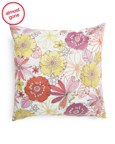 Made In USA 22x22 Floral Print Pillow