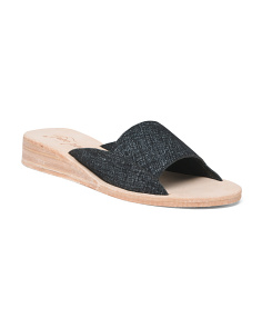 Slide Mini Leather Sandals