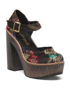 Made In Spain Wood Platform Sandals