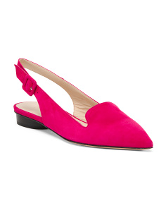 Made In Italy Suede Slingback Flats