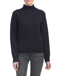 Cashmere Saddle Turtleneck Sweater