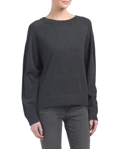 Cashmere Wide Saddle Sweater
