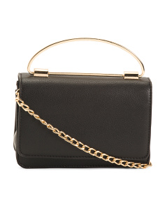 Ring Handle Chain Shoulder Bag