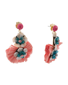 Floral Raffia Earrings