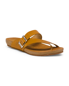 Made In Spain Slide On Leather Sandals