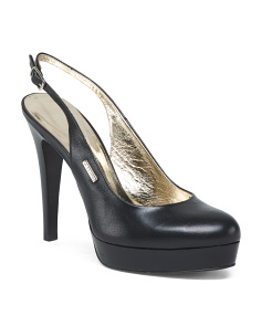 Made In Italy Platform Leather Pumps