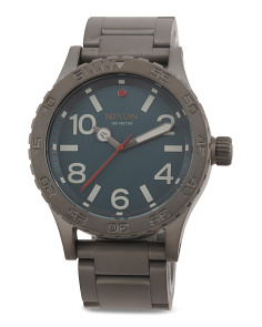 Men's Gunmetal Bracelet Watch
