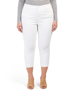 Plus Crop Pencil Jeans