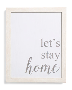 11x14 Lets Stay Home Boxed Wall Art