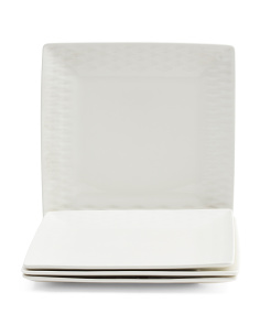 4pk Porcelain Diamond Dinner Plates