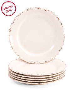 6pk Outdoor Crackle Melamine Salad Plates