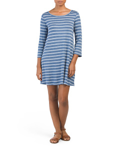 Juniors Elysia Stripe T-shirt Dress