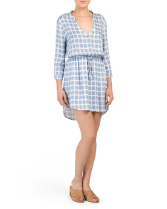 Juniors Daniella Window Pane Dress