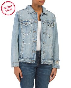 Oversized Studded Denim Jacket