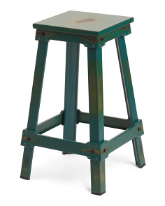 26in Antiqed Metal Barstool