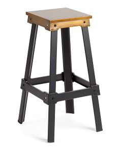 30in Antiqed Metal Barstool