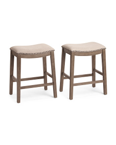 Set Of 2 Saddle Stools