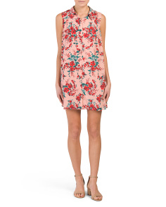 Juniors Armand Floral Button Front Dress