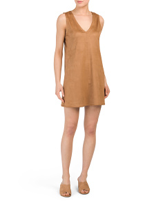 Juniors Coyle Faux Suede Dress