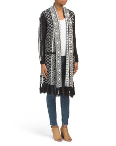 Juniors Johnston Printed Fringe Duster