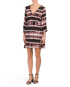 Juniors Laina Printed Kimono Dress