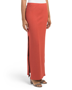 Juniors Mattison Ribbed Maxi Skirt