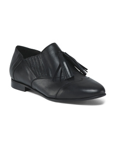 Made In Italy Slip On Leather Flats