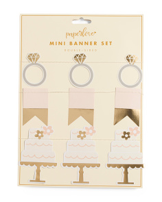 Bride Things Mini Banner Set