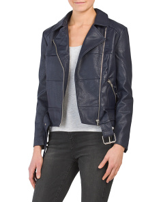 Juniors Maria Faux Leather Jacket