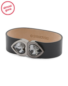 Double Heart Active Crystal 8 GB USB Leather Bracelet