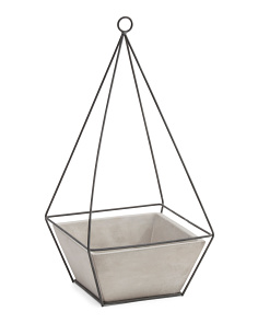 16in Cement Hanging Planter