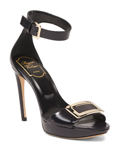 Made In Italy Ankle Strap Leather Sandals