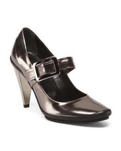 Made In Italy Mary Jane Leather Pumps