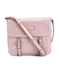 Buckle Down Flap Leather Crossbody