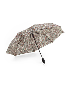 Mini Auto Open Leopard Print Umbrella