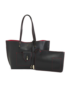 Admiral Feature Leather Tote