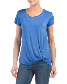 Short Sleeve Twist Knot Tee