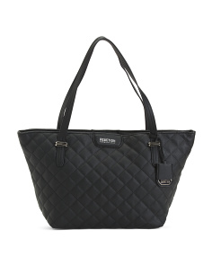 Jaime Quilted Leather Tote