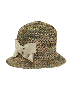 Made In Italy Cloche Straw Hat