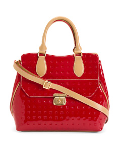 Made In Italy Patent Leather Satchel
