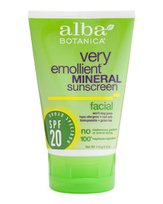 Natural Facial Mineral Spf 20 Sunscreen