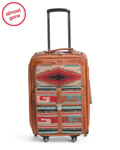 23in Odyssey Wool Blend And Leather Suitcase