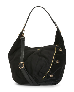 Made In Spain Velvet Hobo