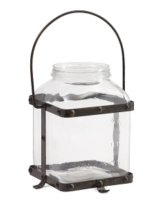 Made In India Metal And Glass Lantern