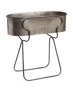 Outdoor Metal Planter Stand