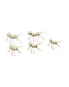 Set Of 5 Metal Ants Decor