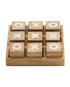 Wood Tic Tac Toe Set