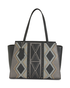 Made In Italy Pattern Leather Tote